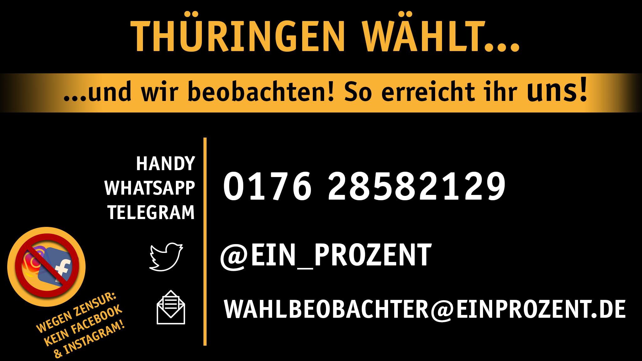 Wahlbeobachtung Thüringen: Liveticker & Kontakt